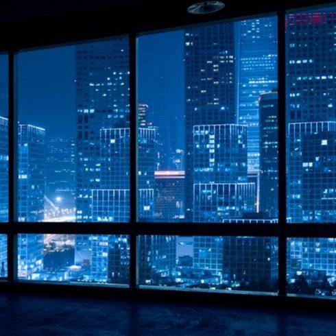 night privacy window film