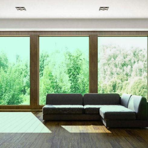 privacy green window film